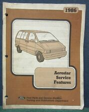 1986 Ford Aerostar Service Features