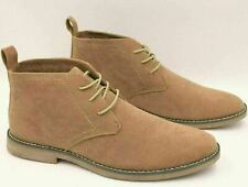 Boohoo Mens Faux Suede Lace Up Panama Desert Boots Size 7 NEW £31.99 Light Brown