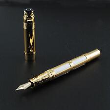 Hero 2065 White Fountain Pen 10K Gold Fine Nib Without Box
