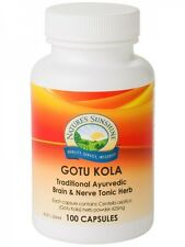 Nature's Sunshine Gotu Kola 425mg 100 Capsules Natures Pennywort Wounds Brain