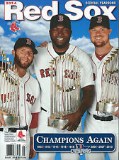 2014 Boston Red Sox Official Yearbook Dustin Pedroia David Ortiz John Lester MLB