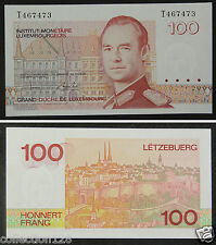 Luxembourg Paper Money 100 Francs 1993 UNC