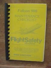 Dassault Falcon 900 Maintenance Checklist - FlightSafety Training aviation book