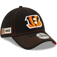 Cincinnati Bengals New Era NFL 2019 Sideline Road 39THIRTY Stretch-Fit Curve Hat