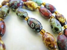 Vintage Murano Speckled Agate Glass  Necklace