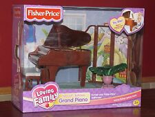 Fisher Price Loving Family Grand Piano Set, Plays 4 Classical Songs, VHTF NIB