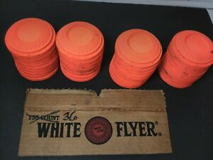 Lot of 36 White Flyer Clay Targets AA Orange