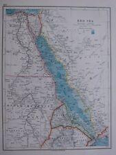 1918 MAP RED SEA ANGOL-EGYPTIAN SUDAN ERITREA EGYPT SINAI CAIRO