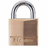 Master Lock 140D Solid Brass Keyed Different Padlock with 1-9/16-Inch Wide Body,