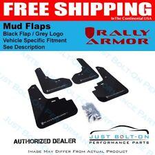 Rally Armor FITS 13-18 Ford Focus ST Black Mud Flap w/ Grey Logo