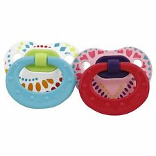 Nuk 62814 6-18 Months Tye Dye Silicone Orthodontic Pacifier 2 Count Girl Colors