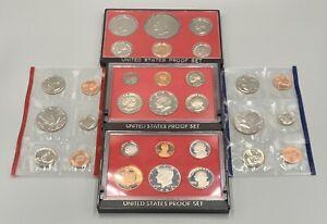 US Mint Proof Sets (Lot of 5) 1976S, 1981S, 1982S, 1987 D&P
