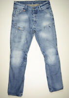 EUC RRP $289 Mens G-Star Raw 'GENERAL 5620 TAPERED' Well Worn Aged Jeans W32 L34