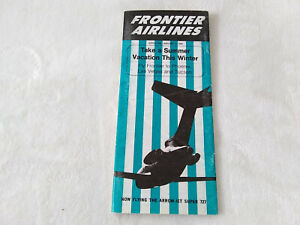 Vintage January 1 1969 Frontier Airlines System Timtable Schedule Brochure 727
