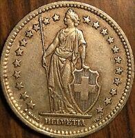 1947 SWITZERLAND 2 FRANCS HELVETIA COIN PIÈCE DE SUISSE