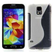 Samsung Galaxy S5 / S5 NEO TPU Silikon Case Schutz Hülle Transparent + Folie