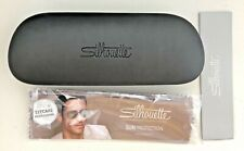 Silhouette Glasses sunglasses Hard Case Spectacle Empty Logo Gray Grey Cloth NEW