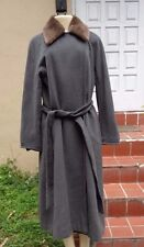 MAX MARA GRAY WOOL KASHMIR BLEND BELTED OUTER COAT Sz 10 MADE IN ITALY