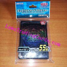 YuGiOh! OCG Duelist Card Sleeve Protector Black Ver.3 55pcs KONAMI JAPAN