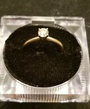 14k yellow gold w white gold head .50ct diamond ring Lot D