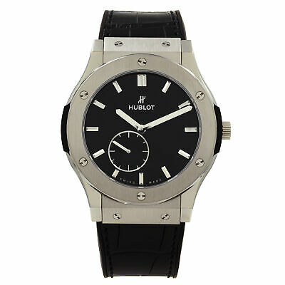 Hublot Classic Fusion Ultra Thin 45mm  Titanium  Black Dial Watch 515.NX.1270.LR