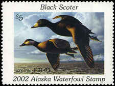 ALASKA #18 2002 STATE DUCK BLACK SCOTER  by Robert Steiner