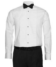 Berlioni Italy Men's Tuxedo Wingtip Collar White Dress Shirt Includes Bow-tie
