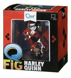 "Q FIG Harley Quinn Figure QMX Batman DC Comics 4"" Figurine Loot Crate Exclusive"