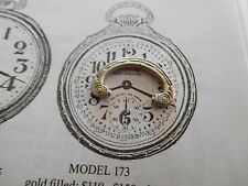 16 SIZE ILLINOIS BUNN SPECIAL POCKET WATCH BOW IN WHITE FOR MODEL 173