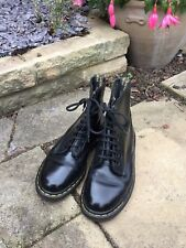 Doc Martens Boots - Made In England Air Wair - Black - Eight Eyelet - Size 5 1/2