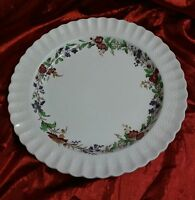 """COPELAND SPODE CHELSEA WICKER FLORAL 13"""" ROUND SERVING PLATE TRAY SP 2-7911"""