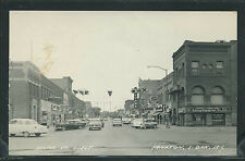 Sd Yankton Rppc 1950's Third 3rd Street West Cars Cafe Gamble Store Hamm'S Beer