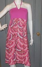 NWT womens PRANA print halter SOLANA dress L Berry Flora sundress NEW