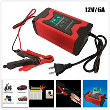 12V 6A Battery Trickle Charger Maintainer Smart Pulse Repair Maintenance Charger