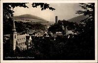Eppstein im Taunus alte AK 1941 gelaufen Teilansicht mit Burg und St. Laurentius