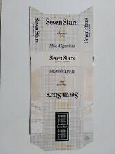 opened empty cigarette hard pack-84 mm-Japan-Seven stars