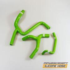 Race Dept Silicone Radiator Coolant Hose Kit Green Y-Design Kawasaki KXF 450 09-