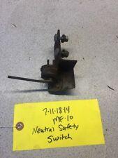 Massey Ferguson MF-10 Tractor Neutral Safety Switch And Bracket