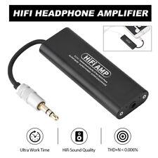 Mini 3.5mm Stereo Headphone Amplifier HiFi Audio Earphone AMP for Mobile Phone