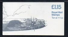 GB Folded Stamp Booklet FI1B 1981 SPITFIRE LANCASTER MILITARY AIRCRAFT