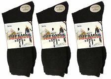 12 x Pares de Calcetines para hombre Negro Térmico Gruesas Cálidas arranque Calcetines Talla 6-11