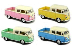 1 X DIECAST VW DOUBLE CAB 12CM bus kombi van Volkswagen car model gift christmas