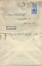 5° CENTENARIO NASCITA LEONARDO DA VINCI 60 lire(687)-Busta Firenze 10.2.1953