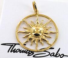 Thomas Sabo Anhänger Sonne PE554-413-12, 925/- Silber vergoldet, UVP € 179, NEU