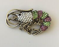 Unique Shrimp Brooch  Pin