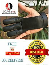 ARCHERS LEATHER SHOOTING 3 FINGERS GLOVE/HUNTING GLOVES, BOW SHOOTING GLOVES