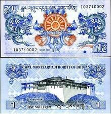 Bhutan 1 Ngultrum UNC BEAUTIFUL NOTE