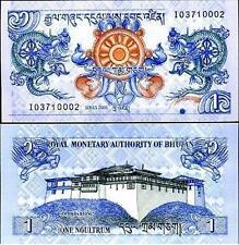 Bhutan 1 Ngultrum UNC BEAUTIFUL NOTE