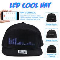 bluetooth APP Contrôle Ecran LED Casquette de Baseball Chapeau DIY Danse de  ~