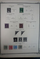 Grenada 1800s to 1980s Stamp Collection